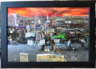 Beautiful framed print of Las Vegas