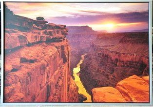 Large framed print of Ron Watts photograph of the Grand Canyon