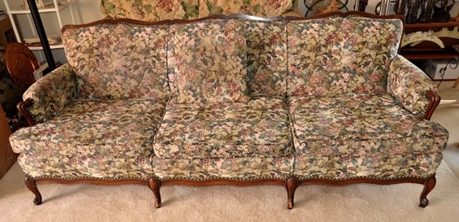 Antique French Provincial style sofa