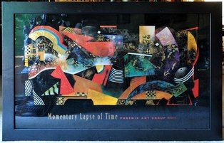 Framed print of abstract painting Momentary Lapse of Time by John Douglas
