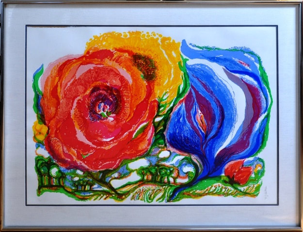 Limited edition serigraph by Ronald  Julius Christensen titled Sky Flowers