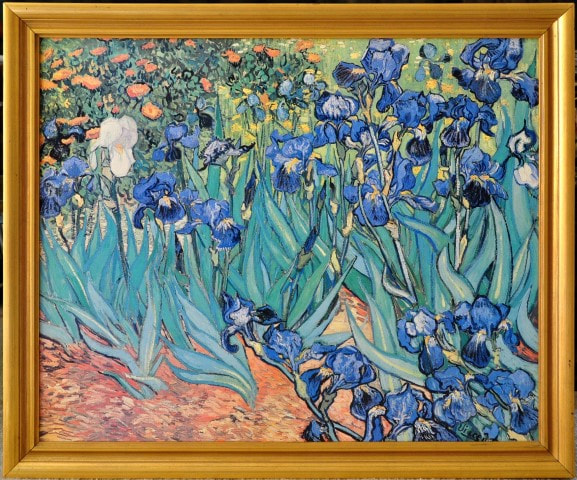 Canvas print of Vincent van Gogh's Irises