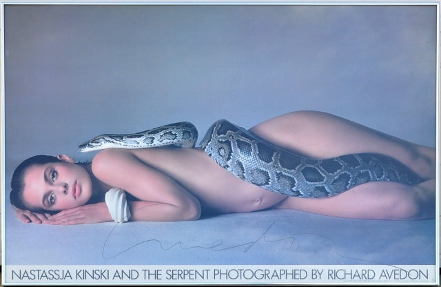 Nastassja Kinski and the Serpent 1981 offset lithograph hand signed by Richard Avedo