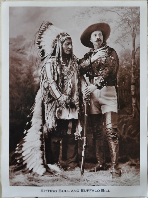 ​Print of 1885 photograph titled Sitting Bull and Buffalo Bill