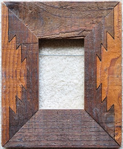 Native American Wooden Picture Frame Assamika Arts