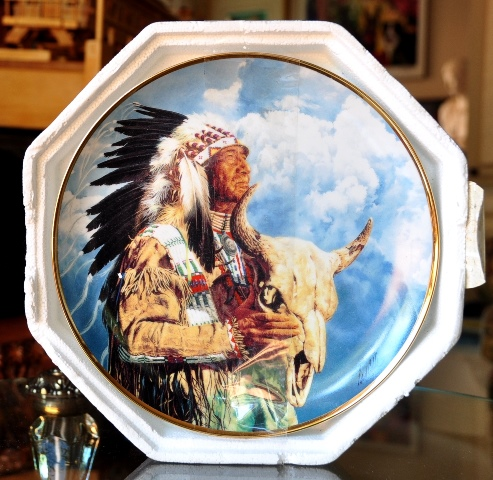 Franklin Mint collectors plate, Hear Me Great Spirit, by artist Paul Calle