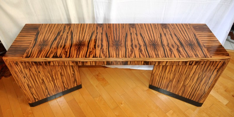 Macassar ebony Art Deco style designer console table by Vaughan Benz
