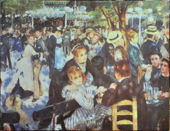 Canvas print of Renoirs Dance at Le moulin de la Galette