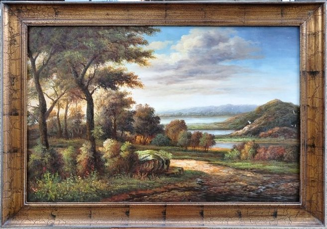 Beautiful oil on canvas landscape painting