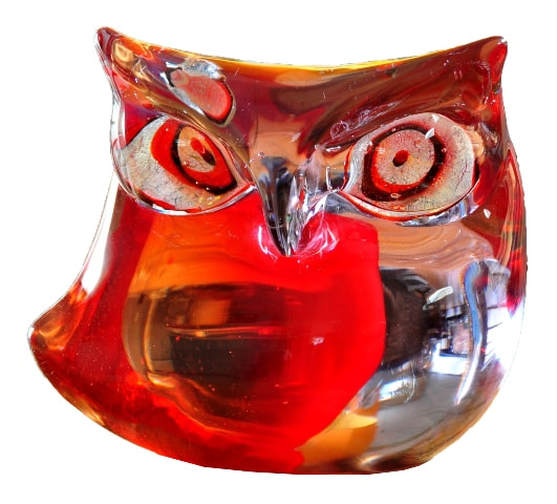 Vintage Somerso Murano glass owl sculpture by Antonio Da Ros for Cenedese and owned by Frank Sinatra