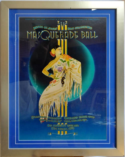 Framed 1979 Margo St. James' San Francisco Masquerade Ball poster