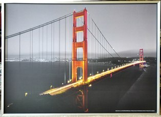 Large framed print Larry Fisher photograph of the Golden Gate Bridge