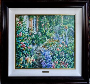 Susan Rios signed limited edition lithograph titled The Heart of a Garden