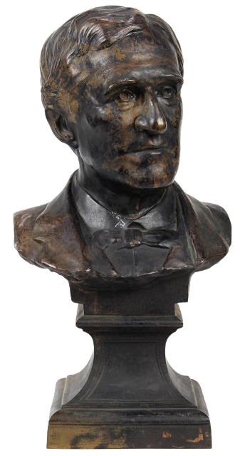 Bronze bust of Thomas F. Bayard from 1897 by Euphrosyne ('Effie') Stillman