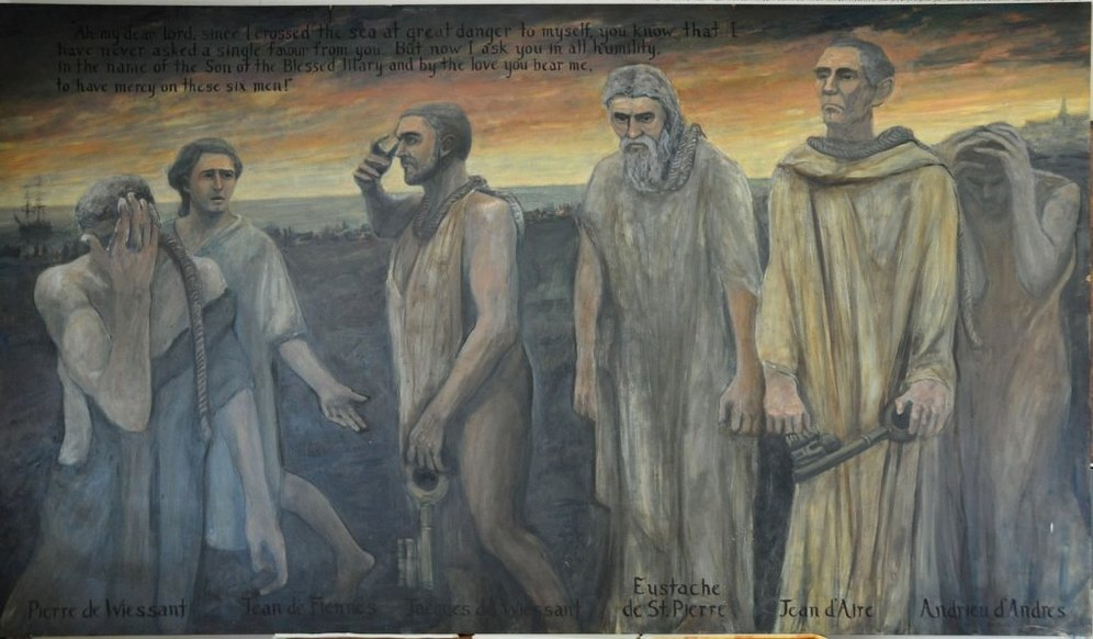 Huge oil painting depicting The Burghers of Calais