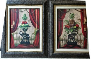 Pair of fruits on centerpiece paintings