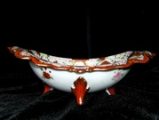 Late 19th century Japanese Imari oval porcelain bowl