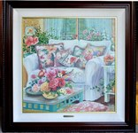 Susan Rios signed limited edition lithograph titled Home to the Heart