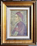 Framed portrait of Dante Alighieri by Giotto di Bondone