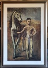Framed print of Pablo Picasso's painting Boy Leading a Horse