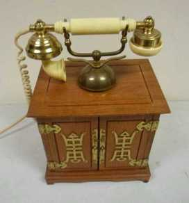 Asian inspired French style telephone