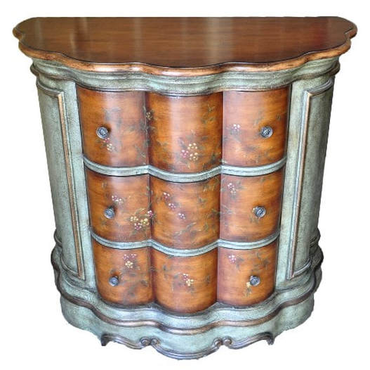 Edwardian demilune accent chest by Pulaski Furniture