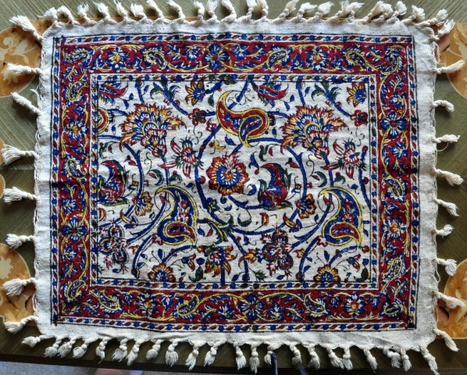 Persian painted textile with beautiful artwork