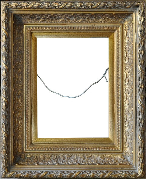 Antique ornate picture frame