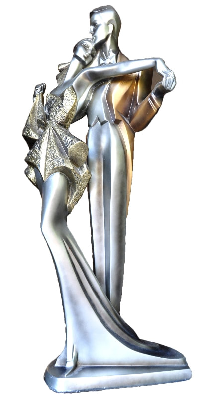 Art Deco style sculpture of a dancing couple
