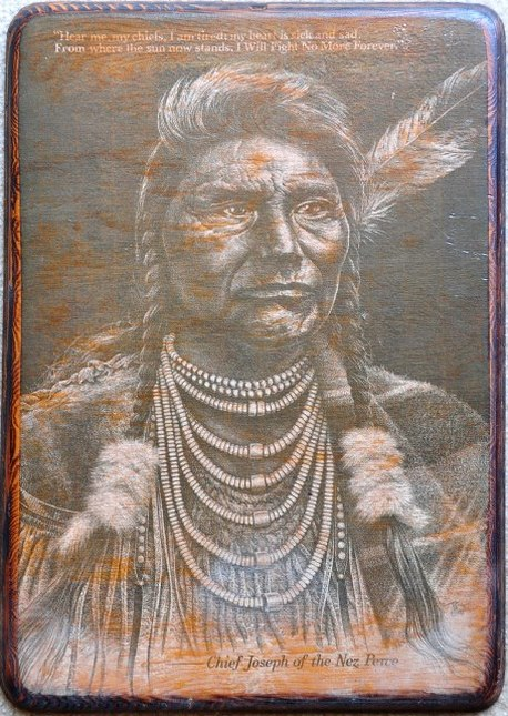 Portrait of Chief Joseph of the Nez Perce