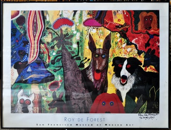 Signed print Country Dog Gentlemen by Roy De Forest