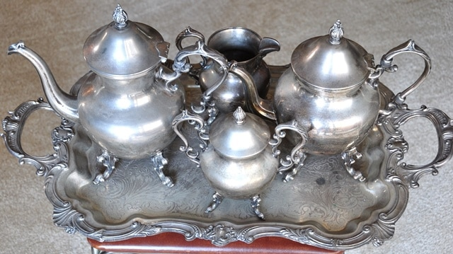 Vintage Birmingham Silver Company silver plate coffee and tea service