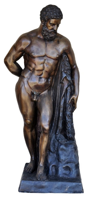 Large bronze sculpture depicting the Farnese Hercules