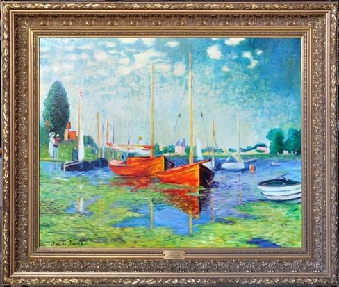Hand-painted oil on canvas reproduction of Claude Monet painting Argenteuil