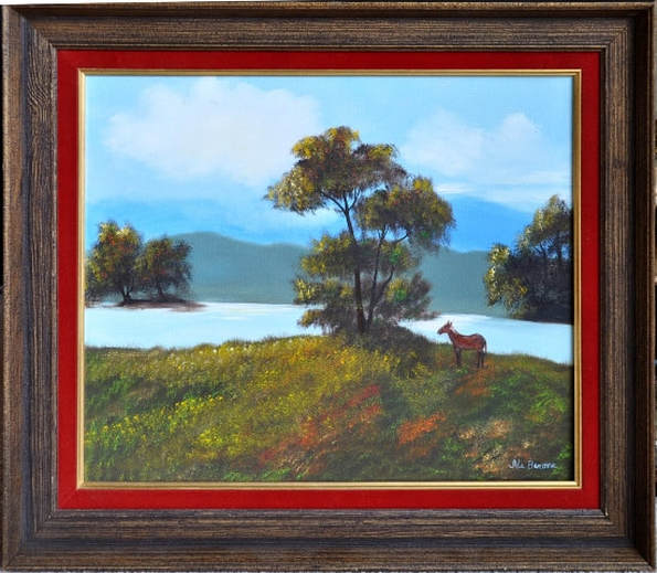 Oil on canvas landscape painting by Ida Barone