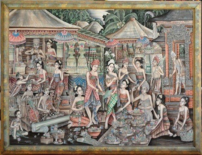 http://www.assamika.com/2016-03-18-traditional-oil-on-canvas-painting-from-ubud-depicting-a-balinese-Hindu-ceremony.html