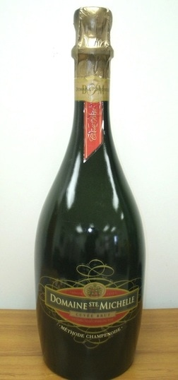 Huge 3 feet tall Domaine Ste Michelle Cuvee Brut Champagne advertising display bottle