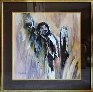 Oil on canvas painting titled The Tenor by California artist Lenore Beran